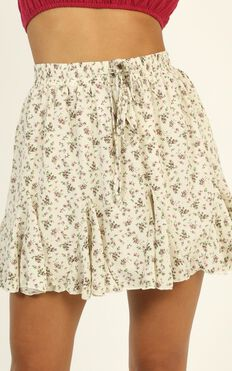 Are You Mine Skirt In White Floral