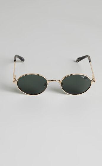 Soda Shades - Charlie Sunglasses in Gold/Green