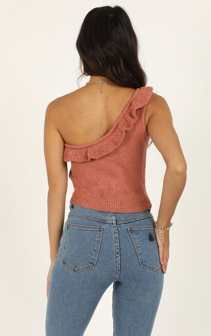 Im Staying knit top in rust - 16 (XXL), Rust, hi-res image number null