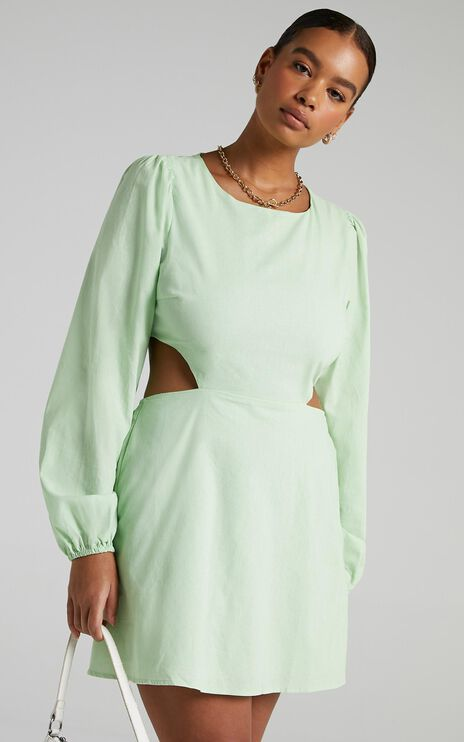 Egeria Dress in Apple Green