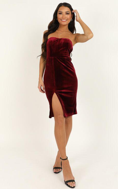 Angelic Love Dress In Wine Velvet