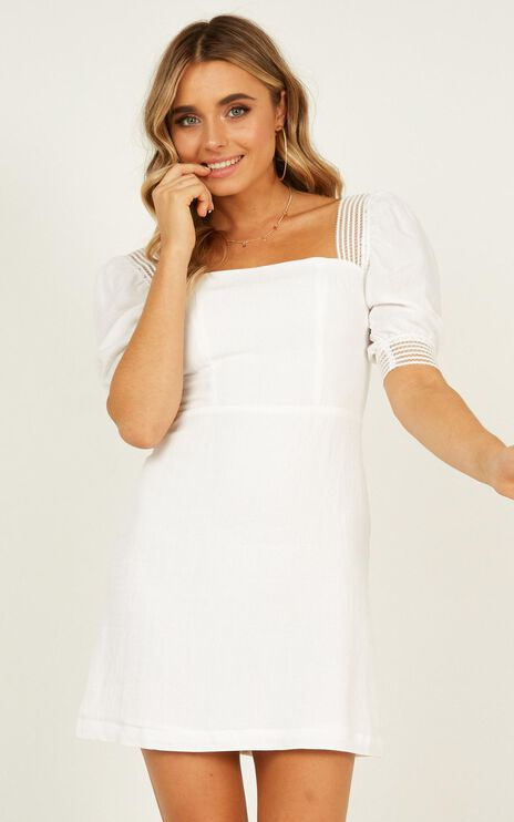 Image Of Her Dress In White