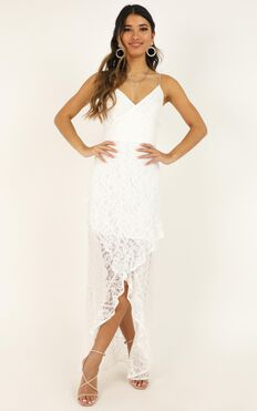 Passionate From Afar Dress In White Lace