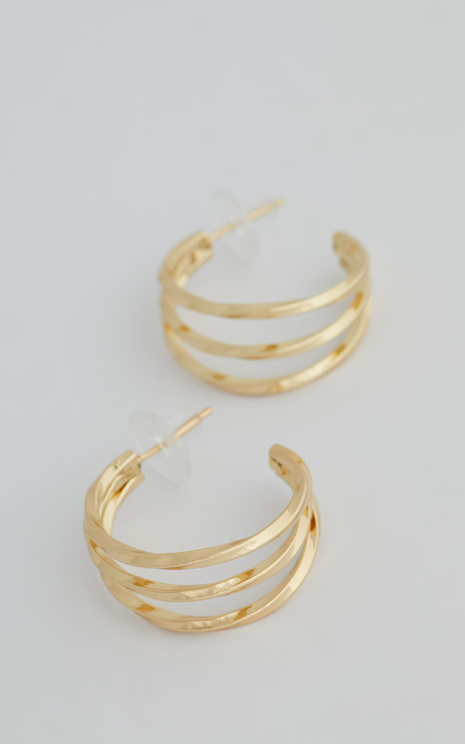PROMISE HOOP EARRINGS in Gold - NoSize, GLD1, super-hi-res image number null