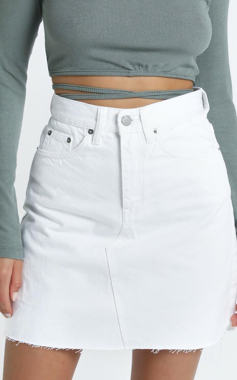Dr Denim - Echo Denim Skirt in White