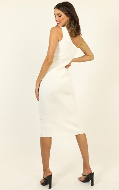 Summer Sun Knit Midi Dress in white - XS/S, White, hi-res image number null