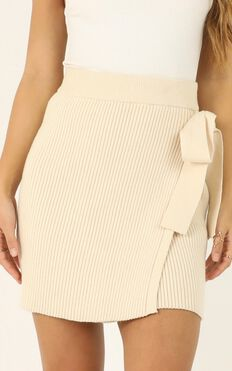 Should Know Better Knit Skirt In Beige