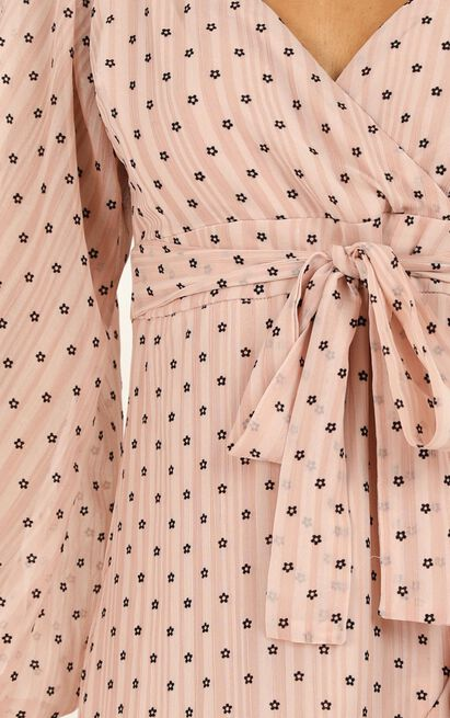 You Are Such A Dream Dress in blush flocked spot - 20 (XXXXL), Blush, hi-res image number null
