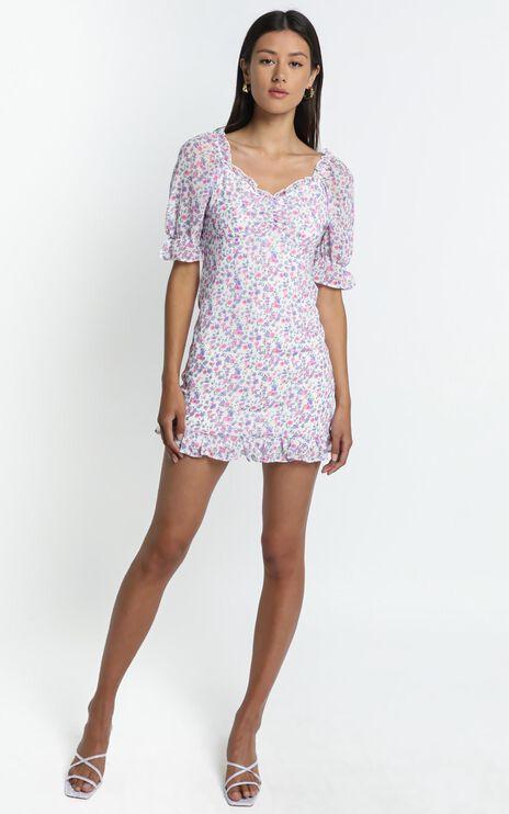 Dawn Dress in Purple Floral