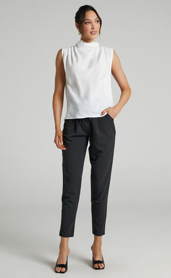 Arianae High Neck Top in White