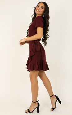 This is Happening Dress In Wine