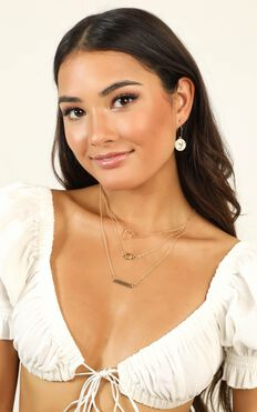 Wish You Were Here Layered Necklace In Gold