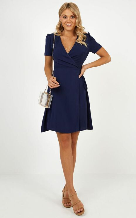 Greater Perspective Dress In Navy