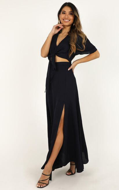 First Thing Two Piece Set In Navy - 20 (XXXXL), Navy, hi-res image number null