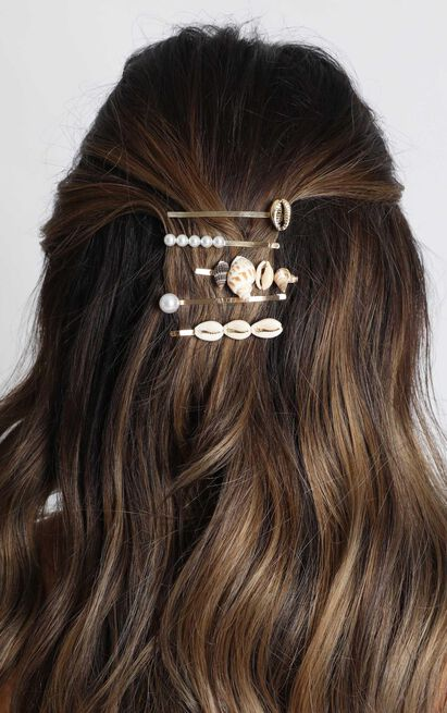 Coral Way Hair Clip Pack In Shell, , hi-res image number null