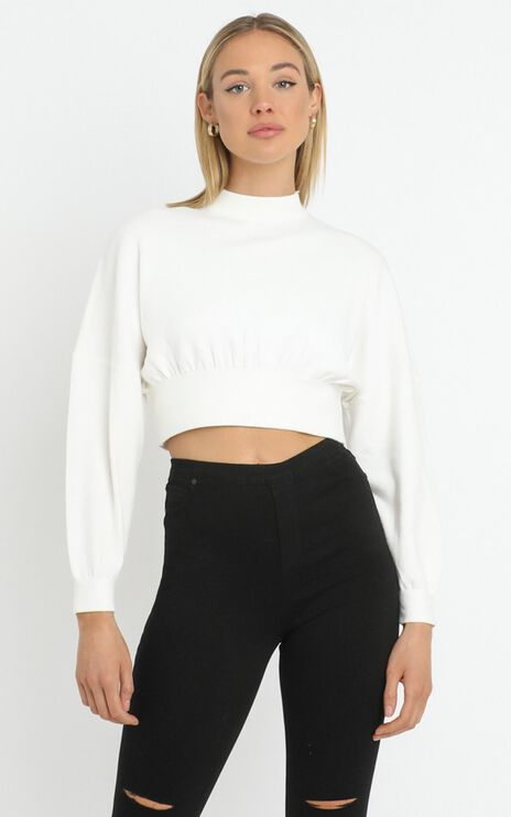 Angelia Sweater in White