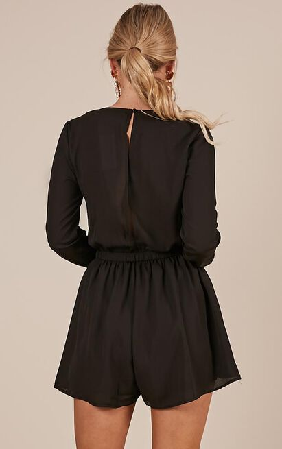 Lost Time playsuit in black - 20 (XXXXL), Black, hi-res image number null