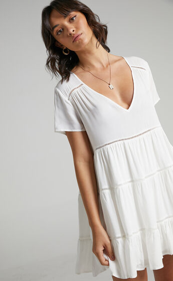 Penryn Dress in White