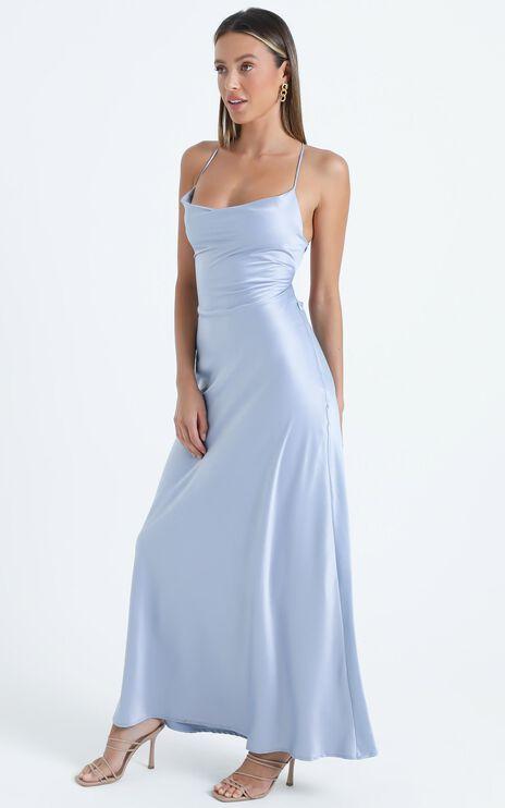 Theadore Dress in Dusty Blue