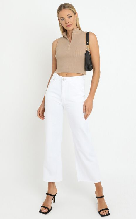 Maisie Knit Top in Tan