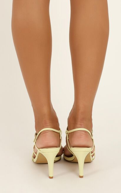 Therapy - Jazzie heels in pastel yellow - 10, Yellow, hi-res image number null