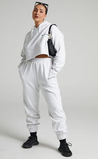 Sunday Society Club - Maddie Sweatpants in White Marle