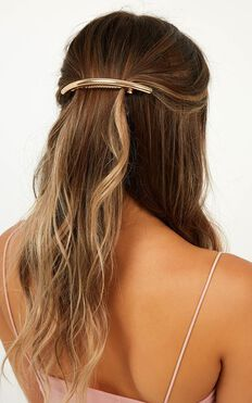 The Two Of Us Hair Clip In Rose Gold