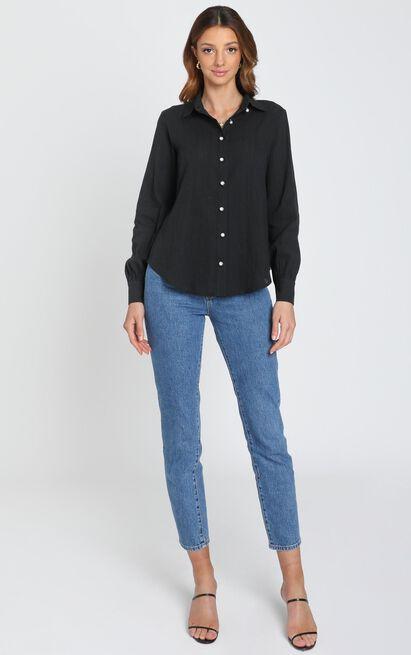 Estrid Embroidery Shirt In Black - 6 (XS), Black, hi-res image number null