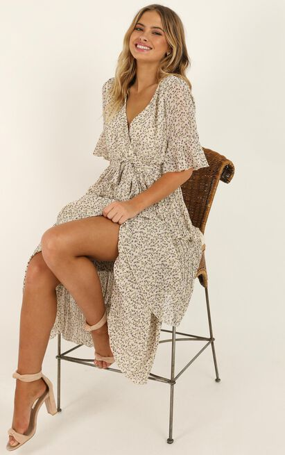 Begging For You Dress In White Floral - 16 (XXL), White, hi-res image number null