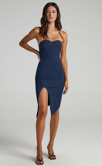 By Your Side Dress In Navy