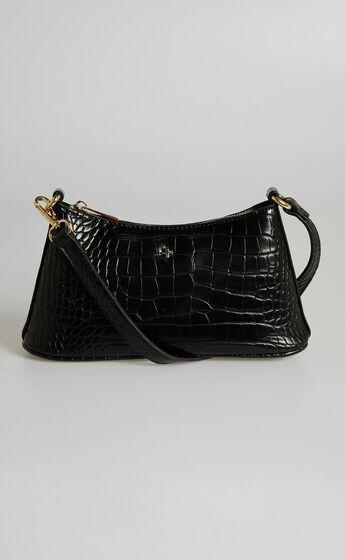 Peta and Jain - Danni Bag in Black Croc