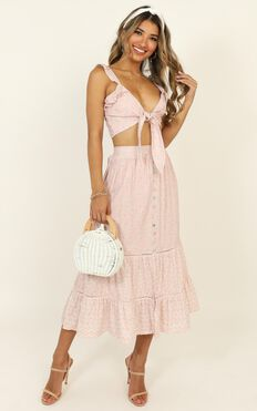 Change It Two Piece Set In Pink Floral