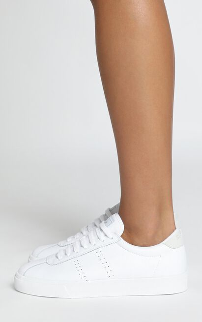 Superga - 2843 Clubs Comfleau in white leather - 11, White, hi-res image number null