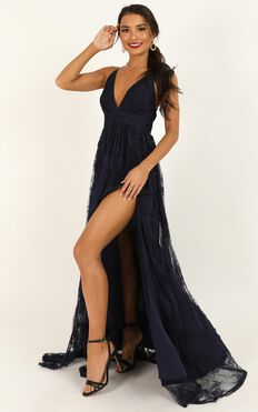 Prom Loving Dress In Navy Lace