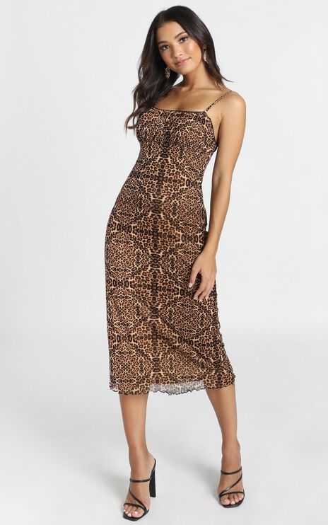 In The Wild Dress In Leopard Print