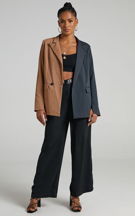Nepena Blazer in Camel and Navy