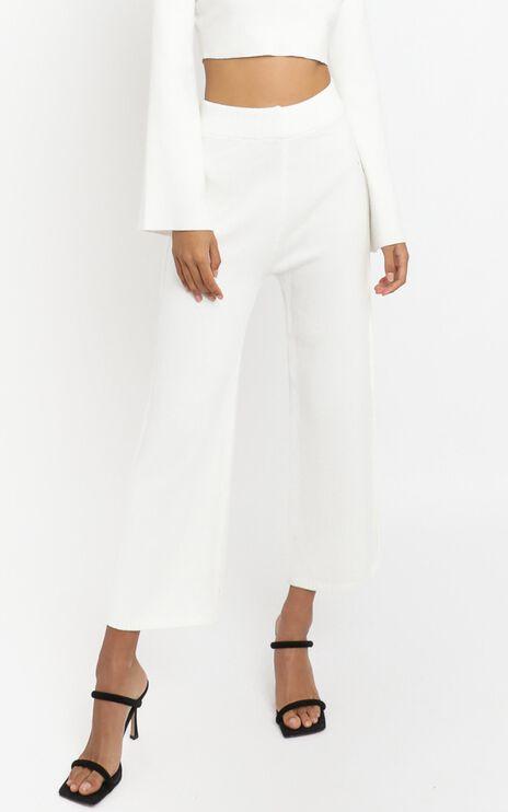 Sinead Knit Wide leg in Cream