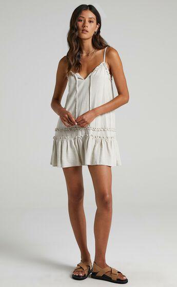 Olinda Dress in Natural Linen Look
