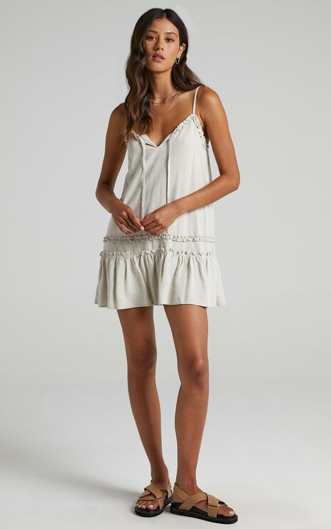 Olinda Dress in Natural Linen Look