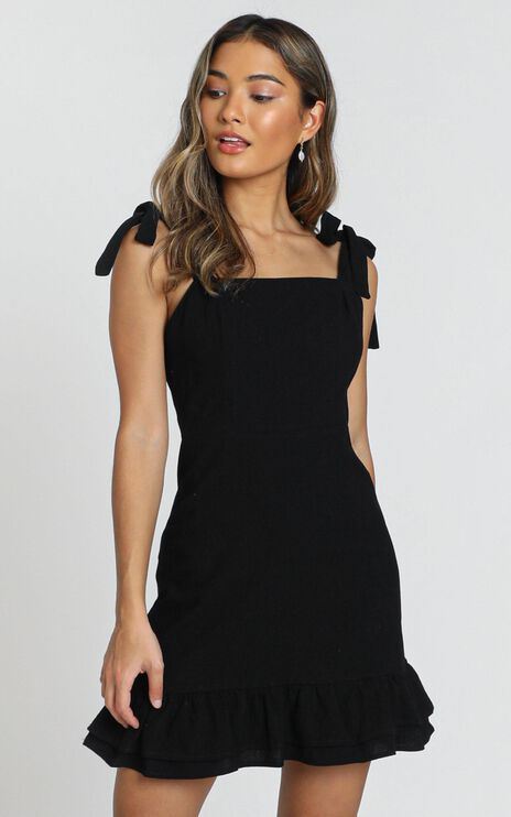 Coastal Getaway Dress in Black