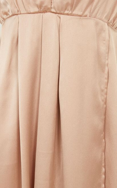 Big Dreams Maxi Dress in mocha satin , Mocha, hi-res image number null