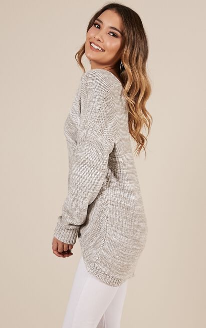 Keep Me Cosy knit in grey marle - M/L, Grey, hi-res image number null