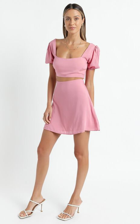 Artemis Two Piece Set in Pink