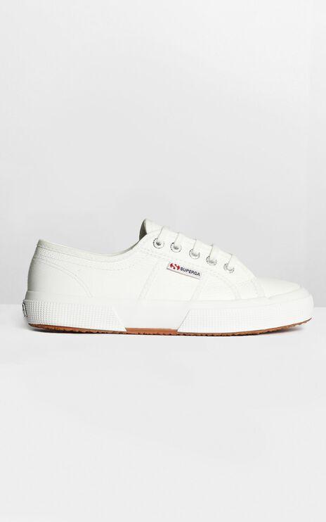 Superga - 2750 EFGLU Sneaker in White Leather