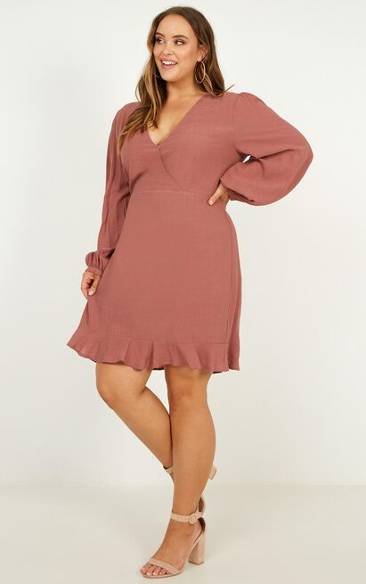 Fire Side Dress in dusty rose - 20 (XXXXL), Pink, hi-res image number null
