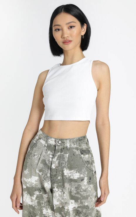 Lioness - Out Of Reach Crop Top in White