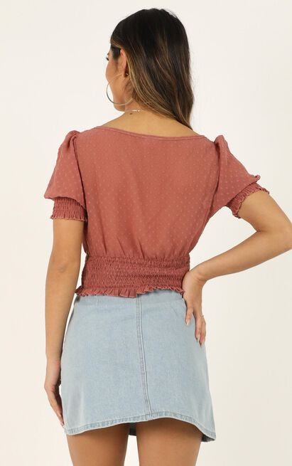 Unusual Distraction Top In dusty rose - 20 (XXXXL), Blush, hi-res image number null