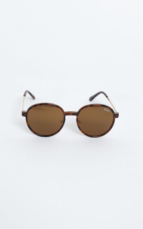 Quay - I See You Clip On Sunglasses in Tort/Brown