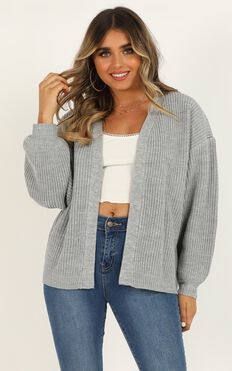 Found My Passion Cardigan In Grey