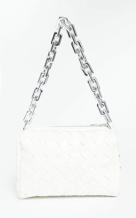 Deidra Bag in White Braided PU